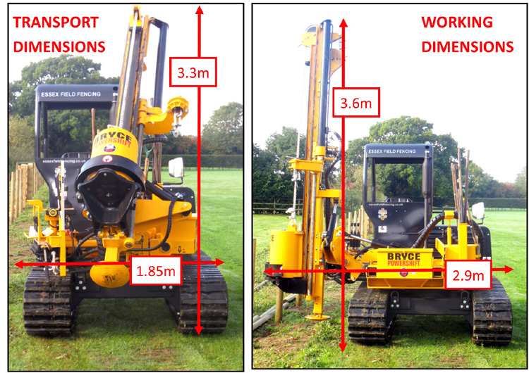tracked post rammer hire