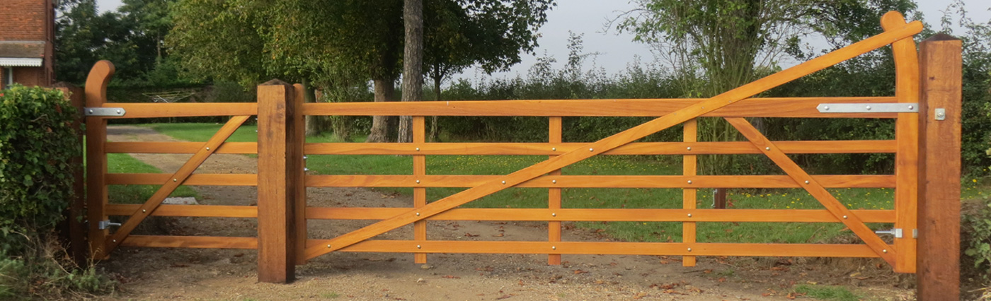 wooden estate gate
